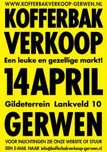 Kofferbakverkoop 14 april 2019